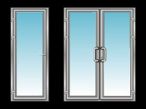 Дверь алюминиевая со стеклом