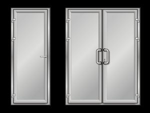 Алюминиевые двери глухие