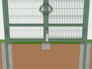 Монтаж с бетонированием столбов