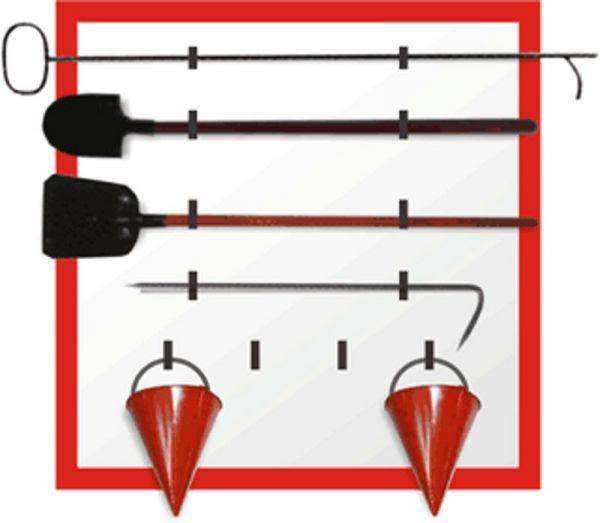 Щит пожарный металлический открытый (без комплекта)