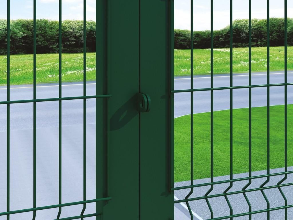 Ворота распашные из сварной сетки
