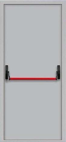 Дверь  противопожарная EIS 60 с ручкой Антипаника однопольная   металлическая  (ДПМ 01-60)