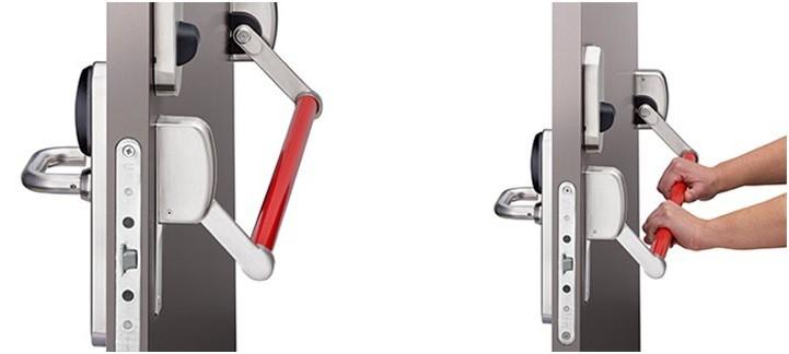 Дверь  противопожарная EI 60 с ручкой Антипаника двупольная   металлическая со стеклом (ДПМ 02-60)