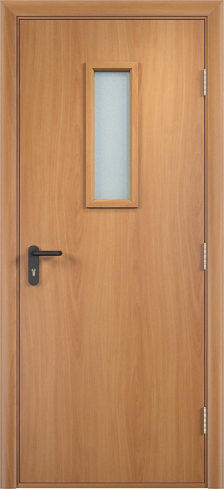 Дверь противопожарная со стеклом ПВХ EI 30 деревянная