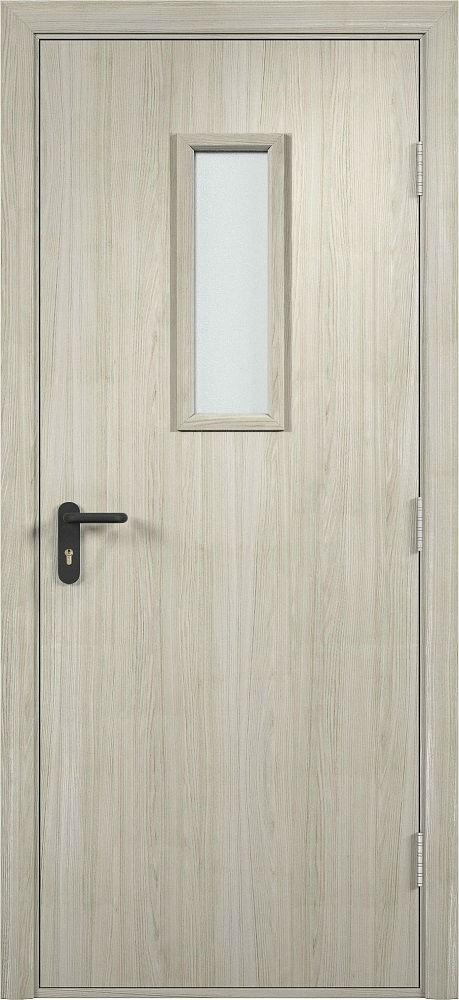 Дверь противопожарная деревянная со стеклом Экошпон