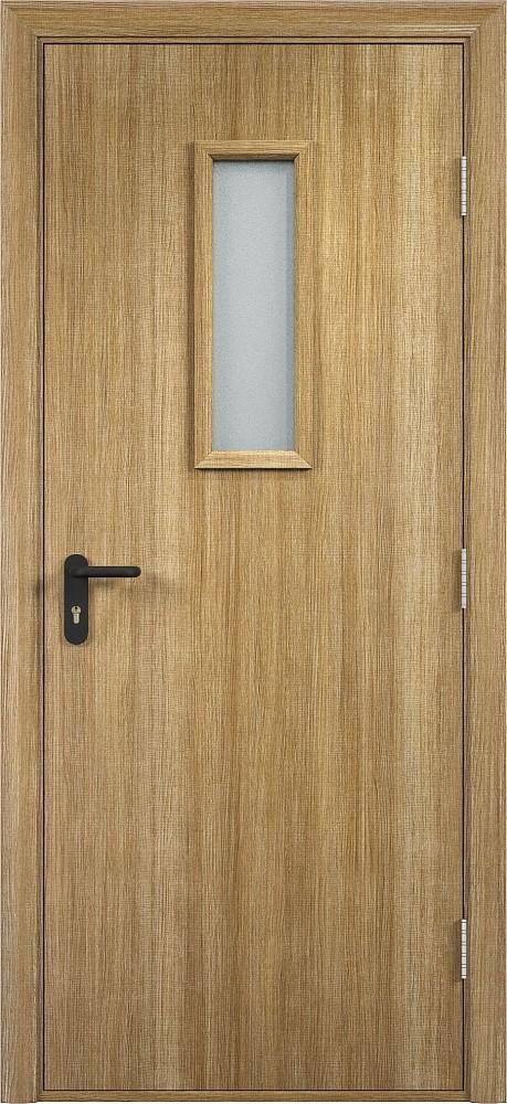 Дверь противопожарная со стеклом Экошпон EI 30 деревянная