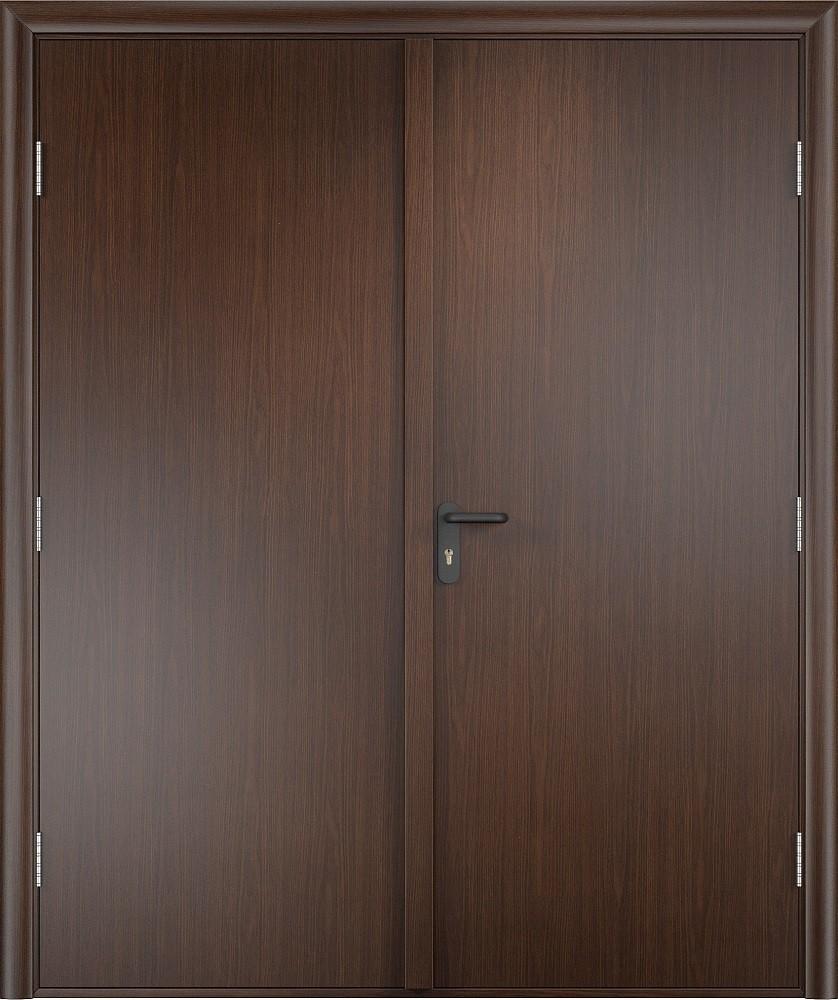 Дверь противопожарная двупольная ПВХ EI 30 деревянная