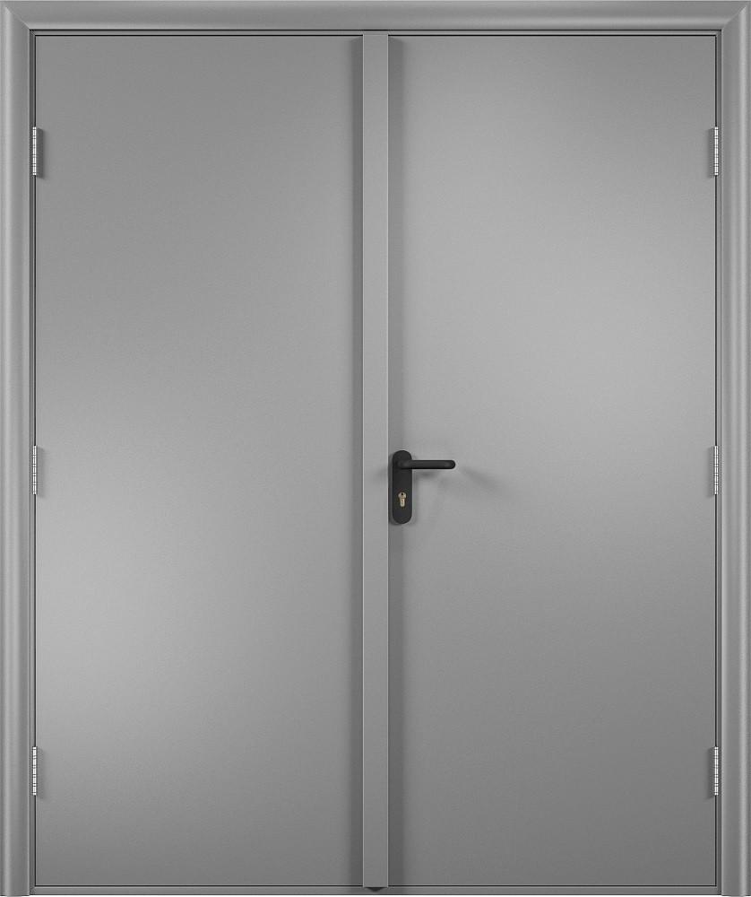 Дверь двупольная ламинированная EI 60 противопожарная деревянная