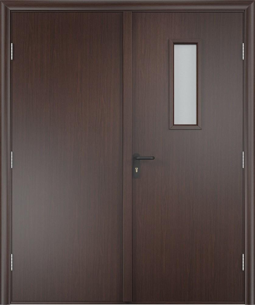 Дверь противопожарная ламинированная  EI 30  деревянная со стеклом