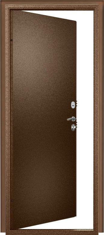Дверь Фактор К Внутреннего открывания без наличника (мет/мет). Пенополиуретан