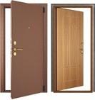 Дверь Фактор К. Внутреннего открывания без наличника (мет/Фрезерованная МДФ панель). Пенополиуретан